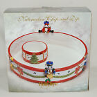 Vintage Christmas Nutcracker Chip and Dip Bowl 3 Piece New 686