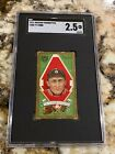 1911 T205 TY COBB SGC 2.5 NEW LABEL CENTERED RARE HASSAN CIG BACK HOT LIKE T206