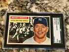 1956 TOPPS MICKEY MANTLE #135 SGC 4 CENTERED WITH AMAZING EYE APPEAL LOOKS NICER