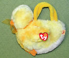 Ty COOL CHICK PURSE Beanie Babies Yellow Chicken with HEART TAG Plush Stuffed