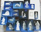 Vintage 1981 1993 20 Piece AVON White Porcelain Nativity Set In Boxes