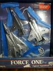ERTL Force One Fighter Squadron F 14 Tomcat F 16 Fighting Falcon F 15 Eagle New