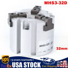 Pneumatic Finger Cylinder Double Acting Bore 32mm Air Gripper Cylinder MHS3 32D