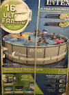 Intex 28321EH 16Ft x 48In Ultra Frame Above Ground Swimming Pool Pump Ladder SET