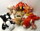 Lot of 6 Beanie Babies SNORT, DERBY, STRUT, DAISY, GOBBLES & KNUCKLES
