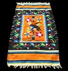Vintage Mexican Southwest Tapestry Throw Blanket Rug Colorful EAGLE Native Wool