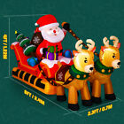 Inflatable Santa Claus on Sleigh Christmas Air Blown Up Party Shopping Mall Yard