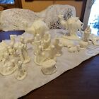 18 Pc Ceramic Nativity Scene Jesus Mary Joseph 3 Wise Men Animals LARGE