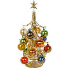 Vintage Inspired Mini Glass Christmas Tree with 16 Removable Ornaments 12