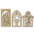 Anna Griffin Mini Nativity Scene METAL DIES 6p Christmas Manger Magnetic Sheet