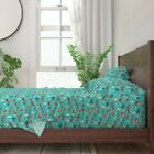 Winter Woodland Owls Bears Nativity 100 Cotton Sateen Sheet Set by Roostery