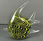 Murano Style Tropical Angel Fish Shaped Art Glass Paperweight 75 Blue Yellow