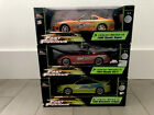 118 Fast and furious Diecast Supra RX7 Eclipse Set