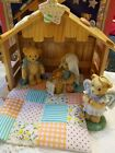 Cherished Teddies Retired 4 Piece Nativity Set 1993 Enesco Corporation 916684