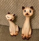 Vintage Ceramic Siamese Cats Figurines Made in Japan