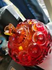 Moon And Star Glass Redish Compote Candy Dish SWEET