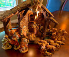 Genuine Italy Fontanini Lighted Stable Nativity1991 with 21 5 Figures MINT