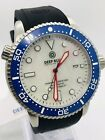 DEEP BLUE M1K USA 44MM DIVE WATCH CERAMIC BEZEL WHITE MOTHER OF PEARL DIAL BNIB