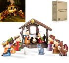 Cbristmas LED Nativity Scene Manger 11 Piece Set Perfect Children XMAS Teaching