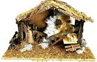 21X8X13H HOME INTERIORS XL NATIVITY STABLE ROCK WOOD FABRIC VERY DETAILED