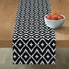 Table Runner Trend Black And White Southwest Native American Cotton Sateen