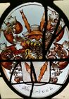 RARE MUSEUM QUALITY EARLY 17th C FLEMISH STAINED GLASS WINDOW PANEL Dated 1602