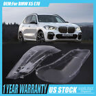 Pair Headlight Glass Headlamp Lens Plastic Cover Replacement For BMW X5 E70