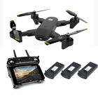 Cooligg FPV Wifi Dual HD Camera RC Selfie Drone Foldable Quadcopter 4K 1080P Toy