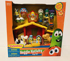 Veggie Tales Christmas Nativity Lights Music Jesus Toy Figures Gift Play Set