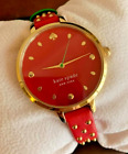 Kate Spade New York Metro Red Gold Strawberry Leather Watch KSW1631