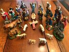 Vintage Italian Nativity Set Christmas Manger Scene 28 Figures Made In Italy