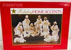 Holiday Home Accents Christmas 12 Pc White Porcelain Nativity SetNEW20011N S93