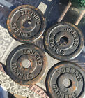 Vintage Roberts Barbell Weights Lot Of 4 Size 5lb weight plate