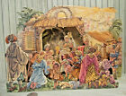 Vintage Continental Paper Nativity Christmas Diorama Printed in West Germany