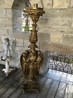ANTIQUE DAPRATO STATUARY CO RIGALICO CHURCH GUARDIAN ANGEL CANDLE HOLDER 64 T