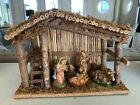 VINTAGE CHRISTMAS NATIVITY MANGER SET FIGURINES MADE IN ITALY