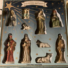 VINTAGE 10 Piece Hand Painted Porcelain Nativity SetChristmas TraditionsNIB