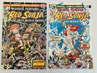 RED SONJA #4 & #2 (1975-1976) (Marvel Feature) 2 comic books lot