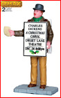 Lemax Sandwich Board Man Christmas Village Figurine Collection Holiday Decor
