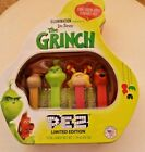 New Mint Dr. Seuss THE GRINCH Collectible Pez Limited Ed. Sour Green Apple Flav.