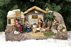 The Deluxe Lighted Panorama Nativity w GOLD FRANKINCENSE MYRRH  Certificate