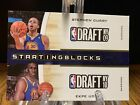 2010-11 Playoff Contenders Patches Starting Blocks #2 Stephen Curry Ekpe Udoh