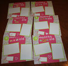 Baby girl months 1 12 premade scrapbook pages 12 handmade 3D photo ready SALE