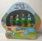 The Smurfs: PEZ Click & Play INCLUDE Smurfs Gameboard! Sour Blue Raspberry Candy