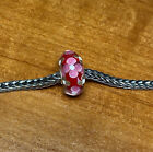 Authentic Trollbeads Pink Flower Design Unique Ooak Bead New