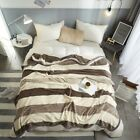 Super warm soft blanket bed cover summer quilt towel sheet Cationic stripping