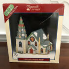 1996 Lemax Village Collection Plymouth Corners Church Porcelain Lighted House