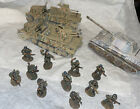 Corgi WWII Lot 11 Metal Figures Panther Tank 2 Die Cast SDkf7 Halftrack Set