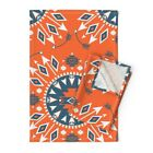 Arrows Navajo Native American Linen Cotton Tea Towels by Roostery Set of 2