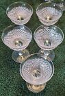 Westmoreland Glass Clear Crystal English Hobnail Sherbet SET OF 5 Excellent Cond